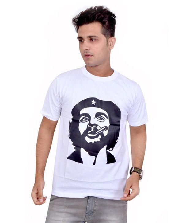 Eric White Cotton Blend T-shirt
