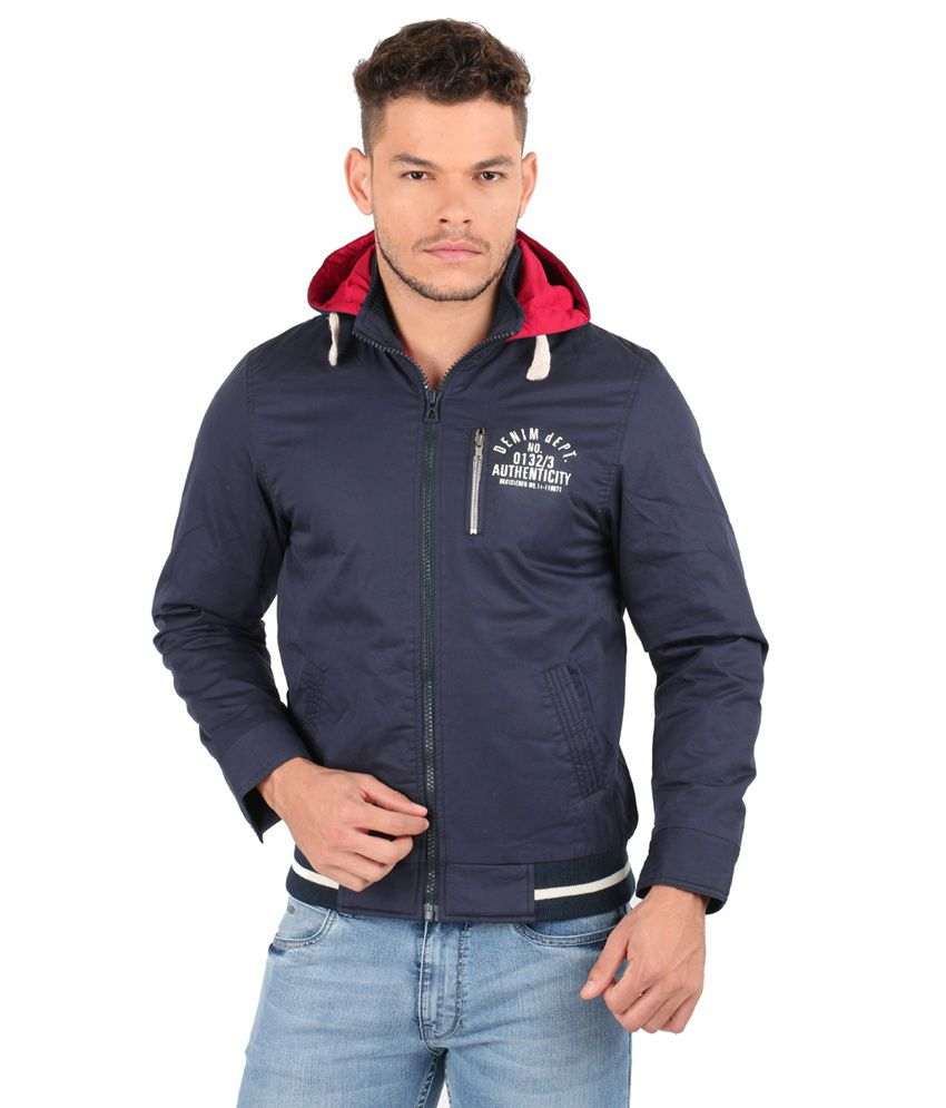 66d283a20 Oxemberg Blue Cotton Casual Winter Jacket