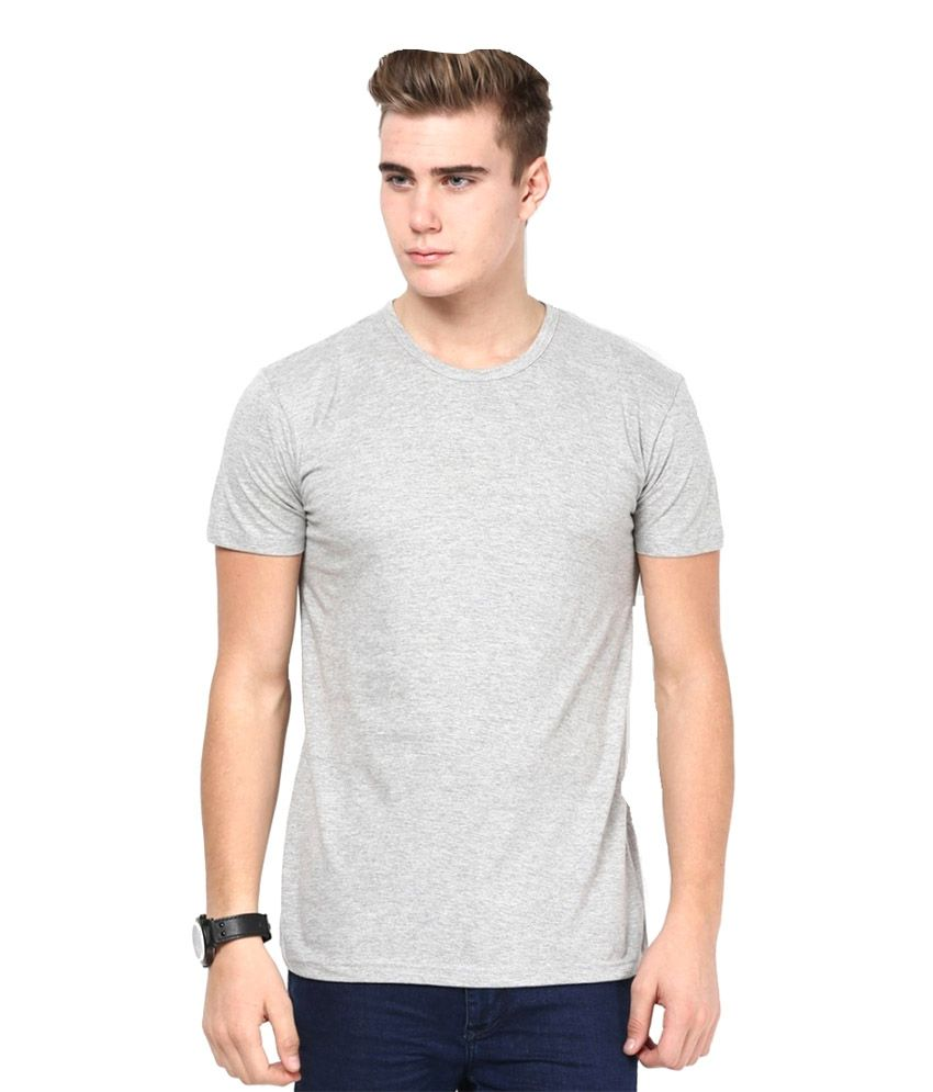 Viraj Grey Cotton T-shirt