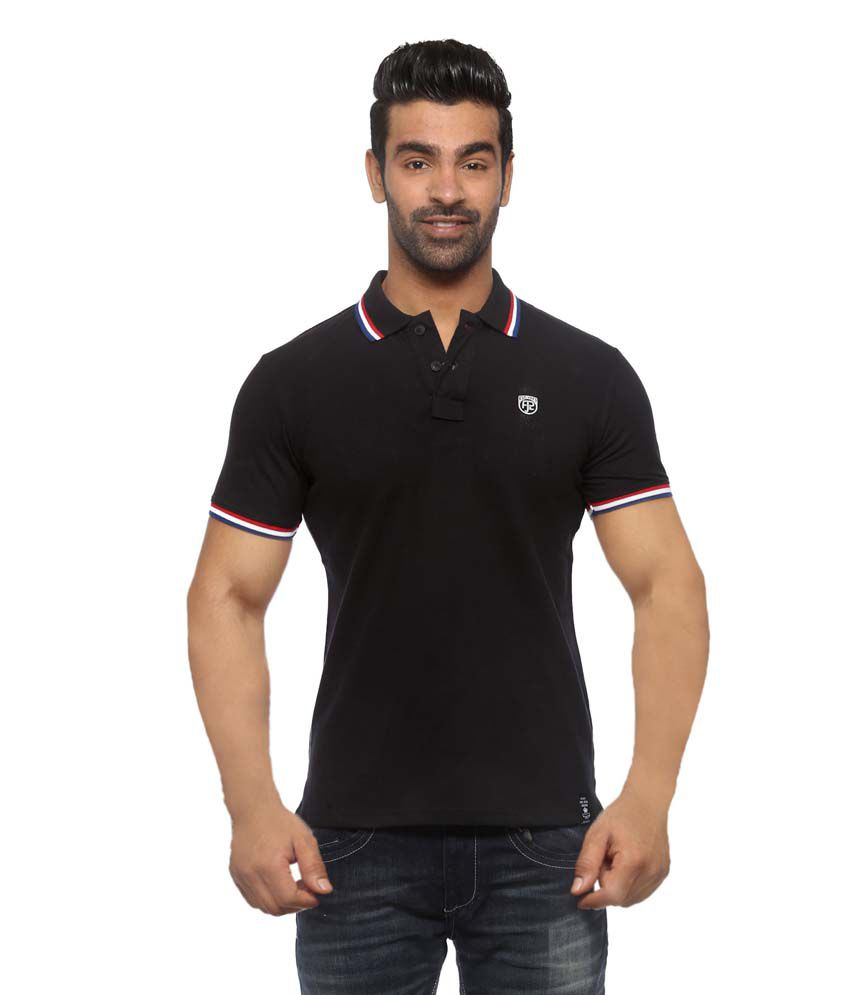 faf3a0ab018 Pepe Jeans Black Half Sleeve Solids Polo T - Shirt - Buy Pepe Jeans Black  Half Sleeve Solids Polo T - Shirt Online at Low Price - Snapdeal.com