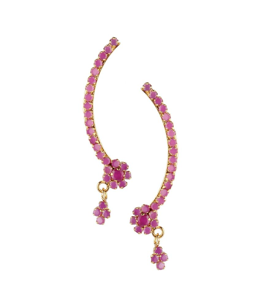 Archi Collection Pink Alloy Ear Cuffs