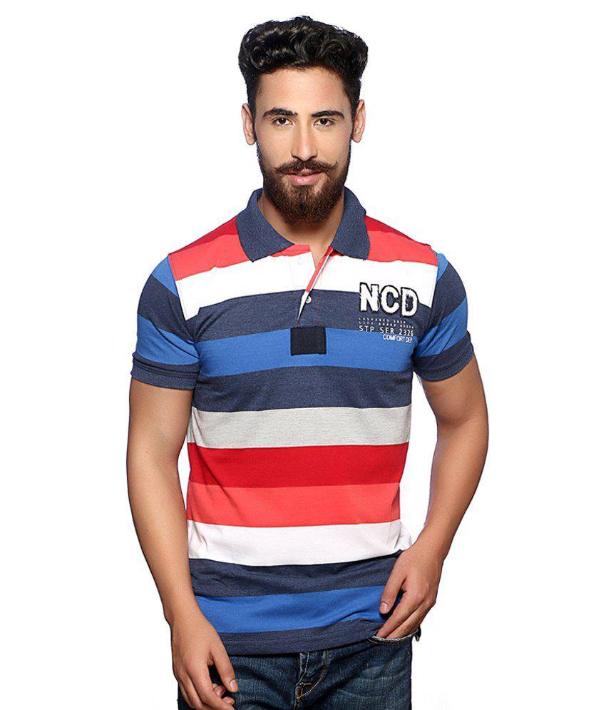 Nucode Multicolour Cotton T-shirt