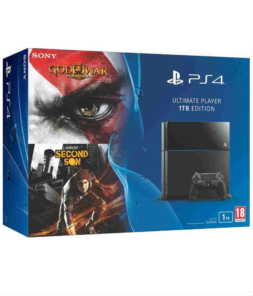 Sony PlayStation 4 1TB Console - Ultimate Player Edition (Free Games: God of War Remastered, Infamous Second Son)