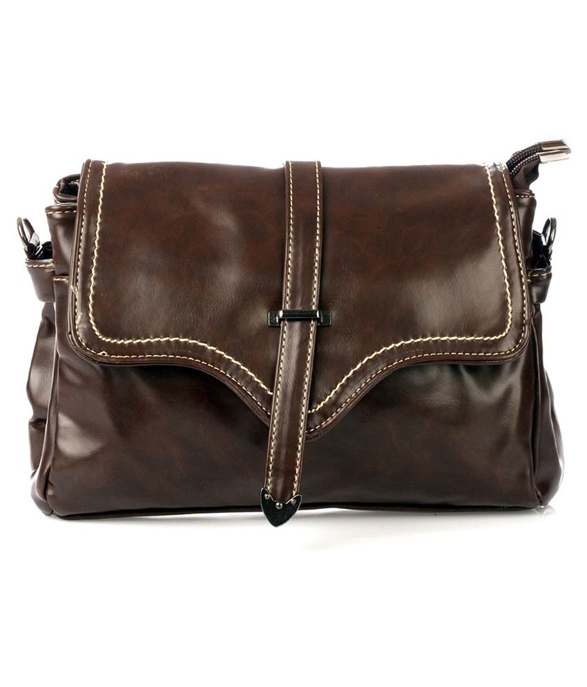 Vero Couture Brown Sling Bag