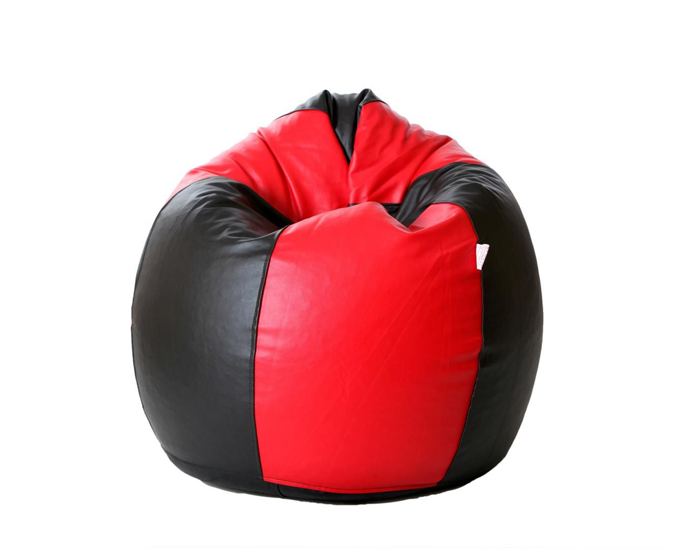Comfy Xxl Bean Bag Filled With Beans In Red And Black