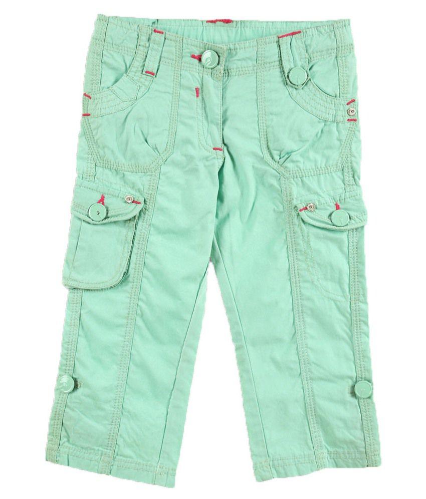 Lilliput Green Cotton Capris