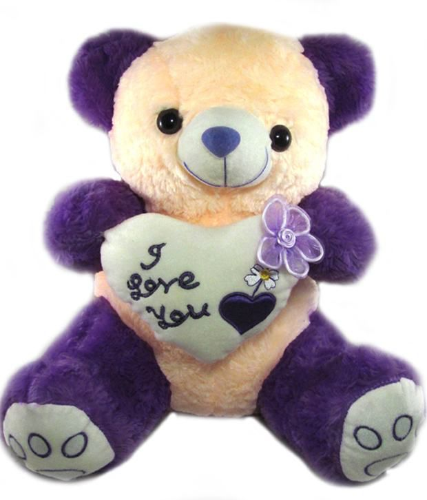 Tickles Purple Teddy