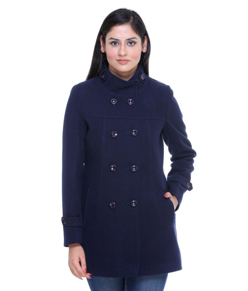 Trufit Navy Tweed Coats