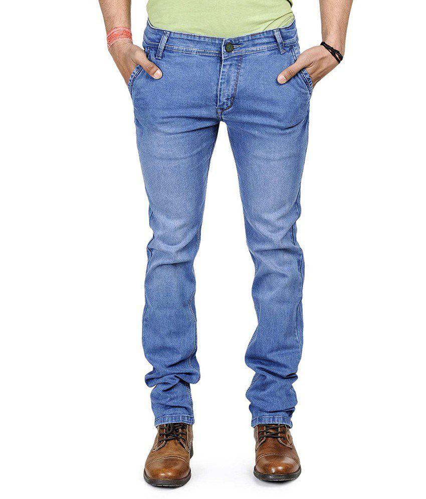 Neeraj Fashions Blue Regular Fit Jeans- Set Of 10