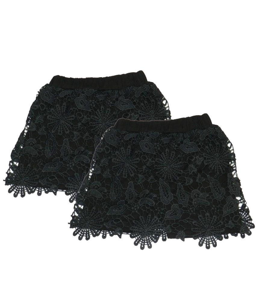 Rapchik Kid Black Cotton Shorts - Pack Of 2