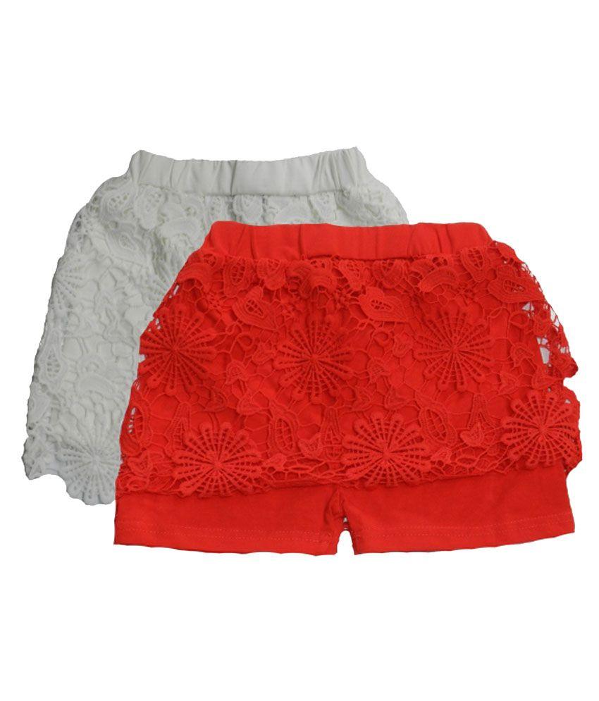 Rapchik Kid Multicolour Cotton Shorts - Pack Of 2
