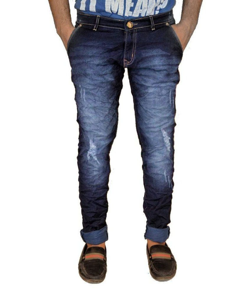 Cannabis Blue Slim Fit Jeans