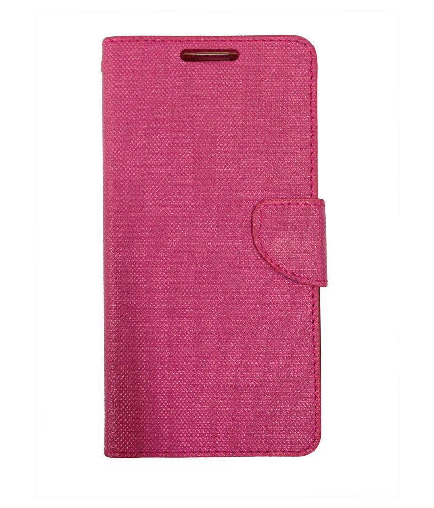 promo code c4307 770d8 Celson Flip Cover for Micromax Canvas Nitro 4G E455 - Pink