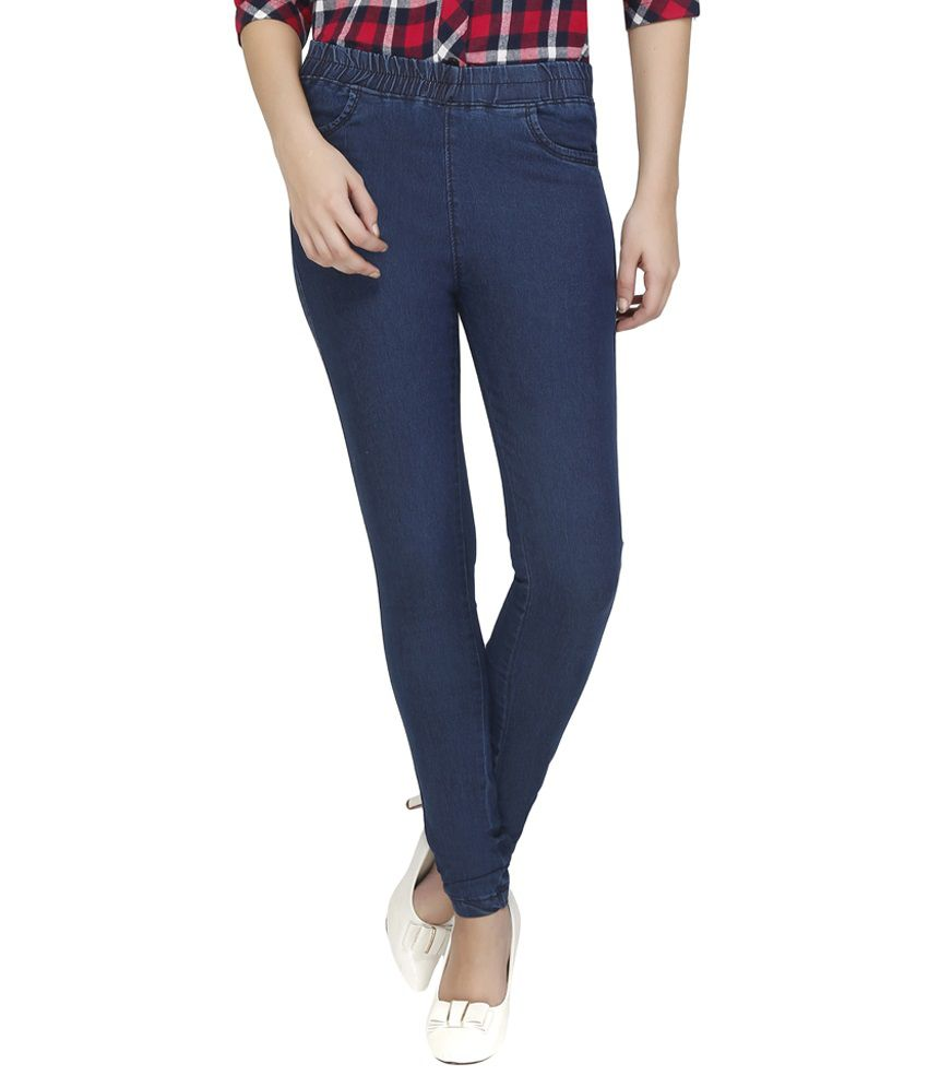 3ff9de981aa819 Buy Clench Blue Denim Jeggings Online at Best Prices in India - Snapdeal