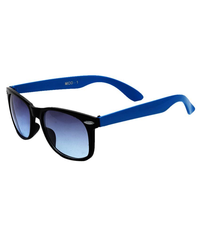 Ragmel Black and Blue Non Metal Wayfarer Sunglasses