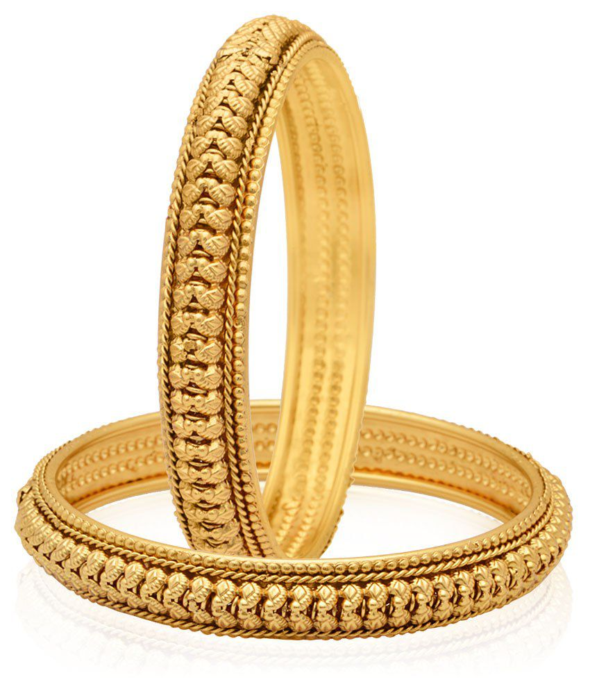 Jewels Galaxy Trendy Gold Plated Bangles: Buy Jewels ...