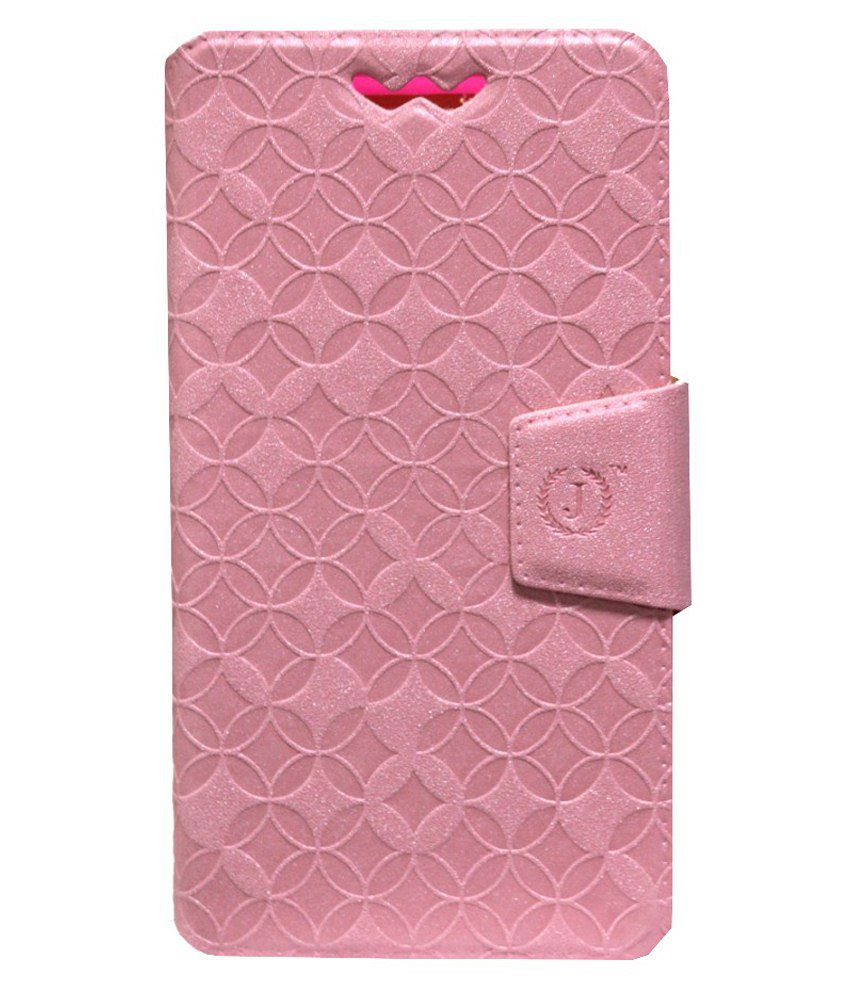 Jo Jo Flip Cover With Silicon Holder For Maxx Race Ax8-Pink