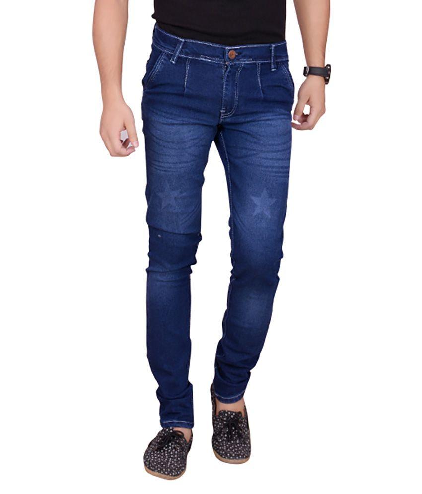 VMW Jeans Blue cotton Slim Fit Jeans