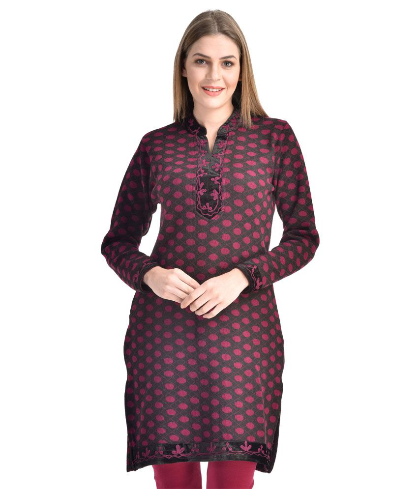 Christy World Turquoise Woollen Kurti