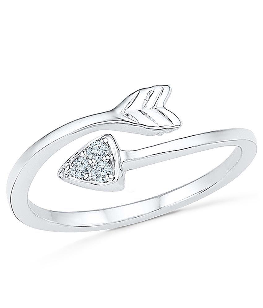 Radiant Bay EGL Certified 92.5 Sterling Silver Diamond Ring