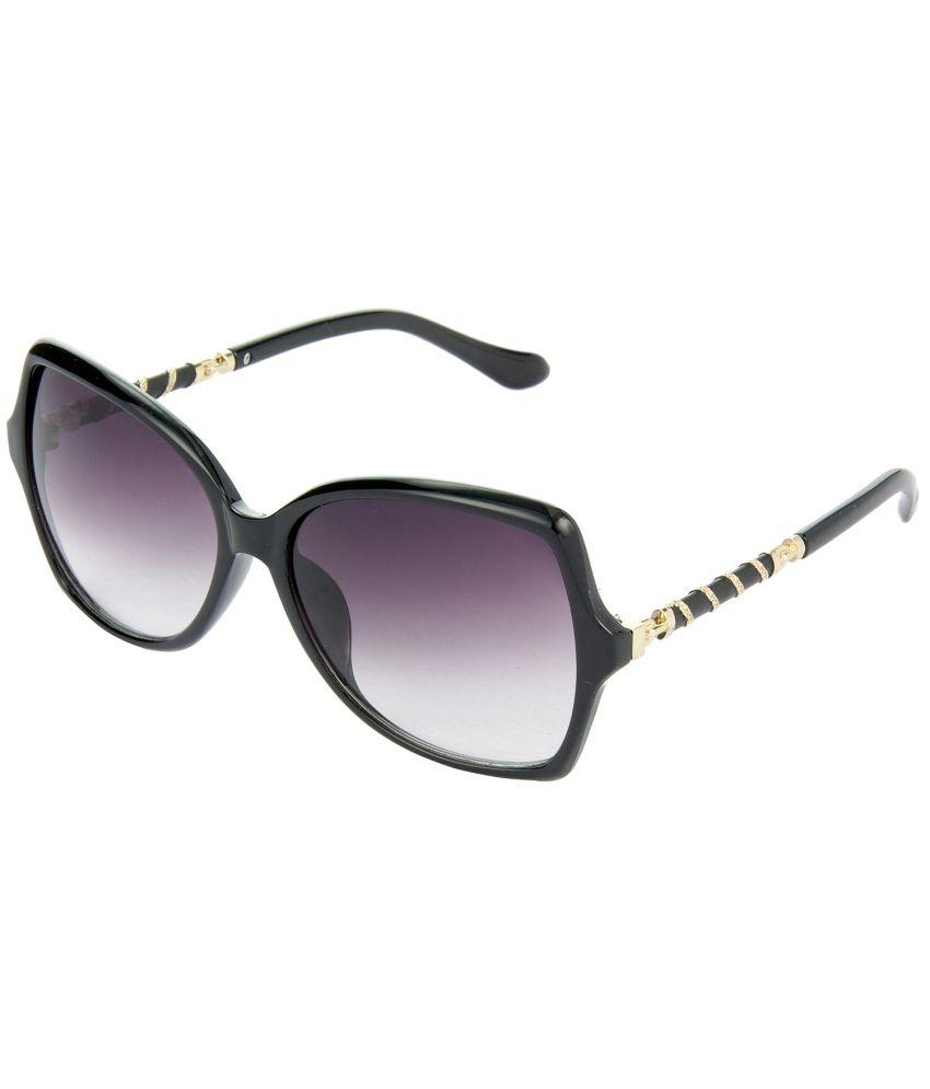 Red Leaf Premium Quality Over-sized Grey Lens & Black Frame Sunglasses For Women - Rd-bx52