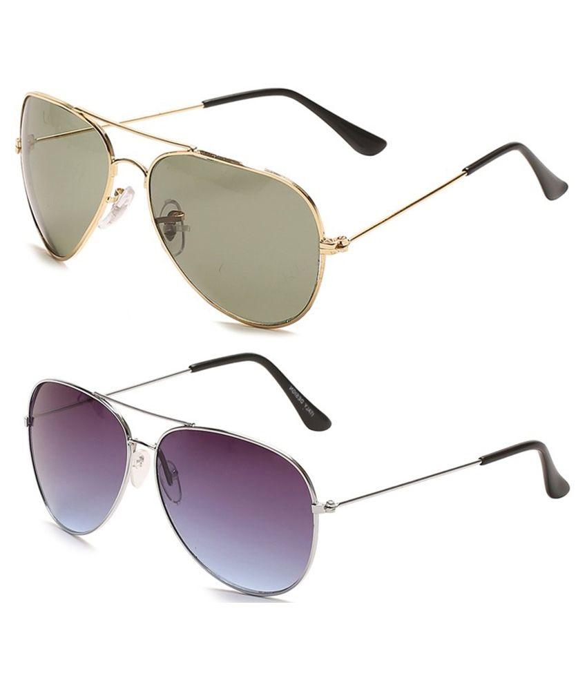 Camerii SA5&SA7 Medium Multicolour Plastic Sunglasses Combo Of 2