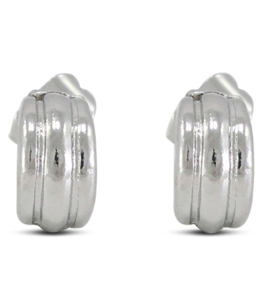Diva White Colour Stud Earring
