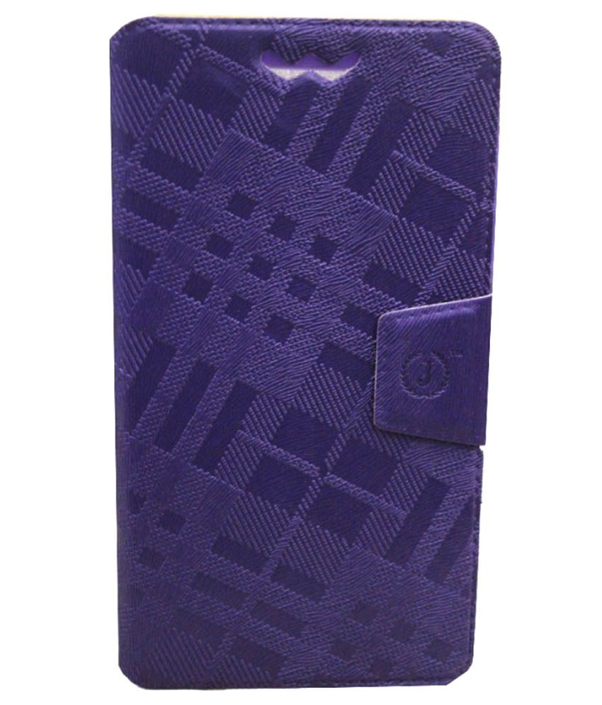 Jo Jo Flip Cover With Silicon Holder For LG Optimus F7 - Purple
