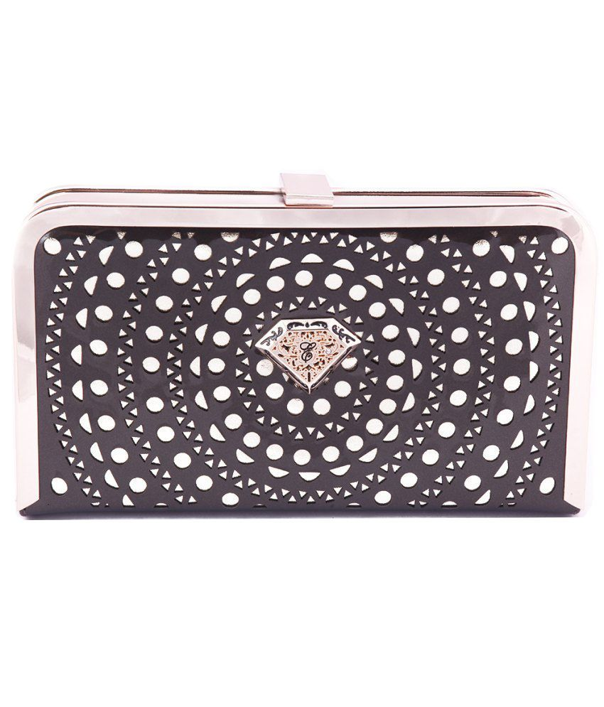 Eleegance Gray P.U. Clutch with Sling
