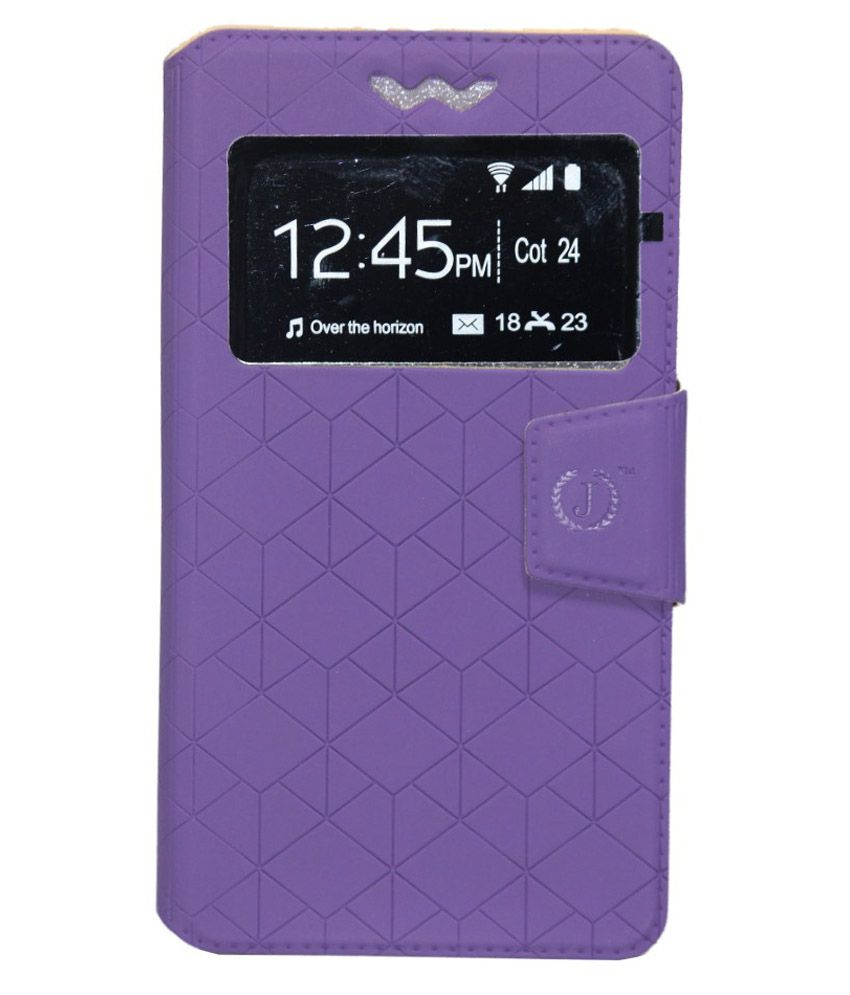 Jo Jo Flip Cover With Holder For BLU Studio 5.0 C - Purple