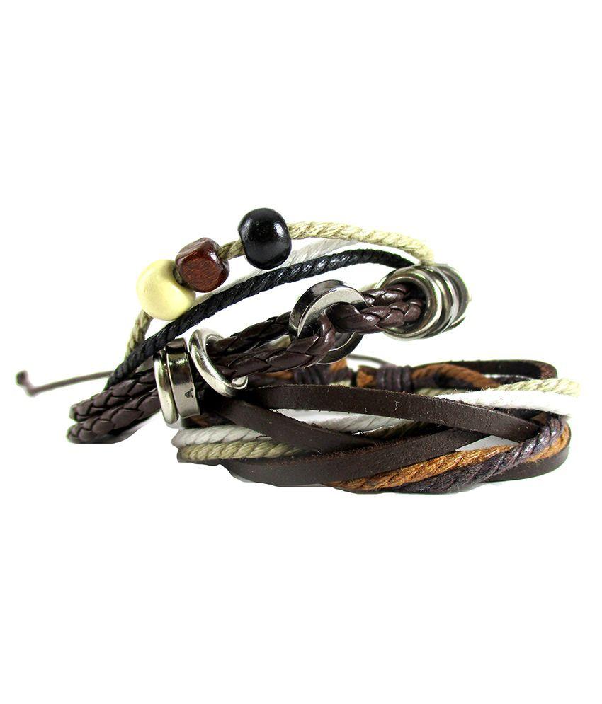 Streetsoul Multicolour Faux Leather Bracelet
