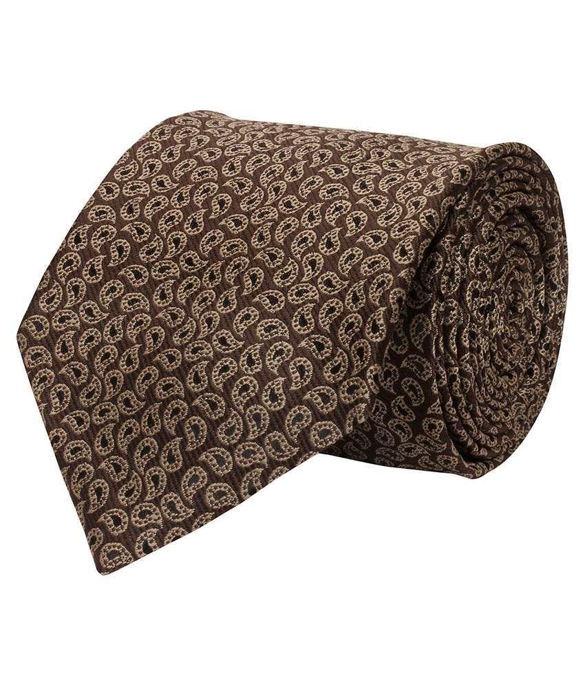 Corpwed Brown Micro Fiber Casual Broad Necktie