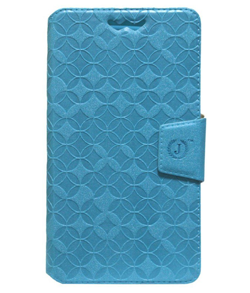 Jo Jo Flip Cover With Silicon Holder For Alcatel Pop S7-Blue