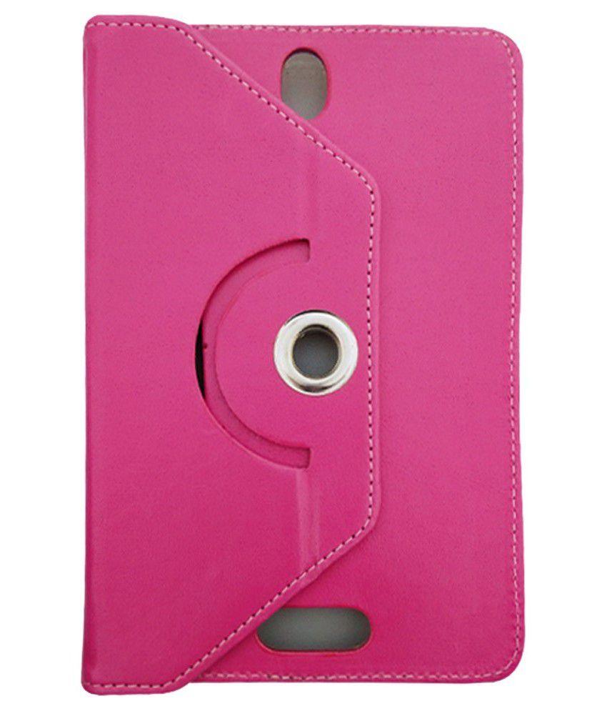 Fastway Rotating Flip Cover for Prestigio MultiPad 7.0 UltraPlus New - Pink
