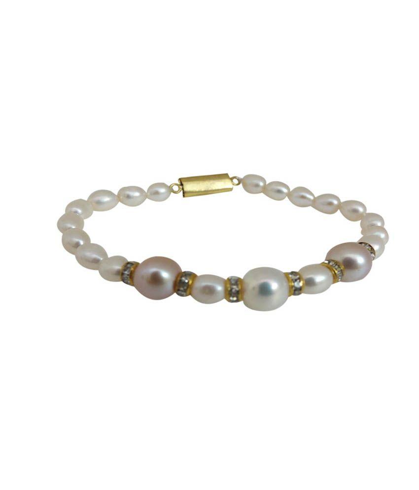 Golden Collections White Alloy Bracelet