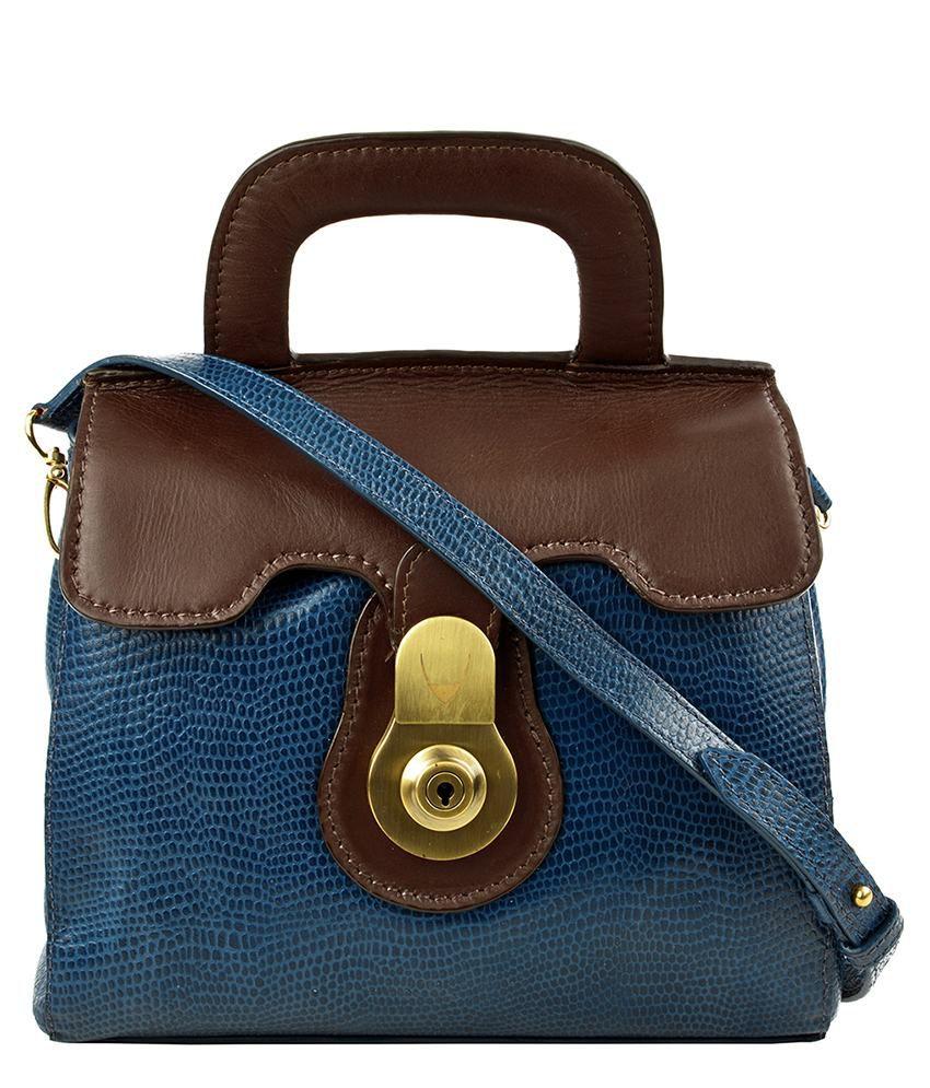Hidesign Blue Leather Sling Bag