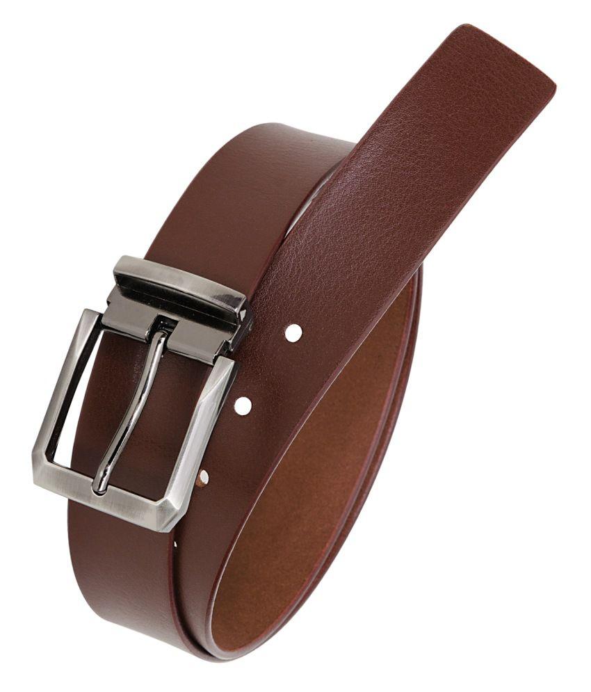 Hornbull Maroon Leather Formal Belts