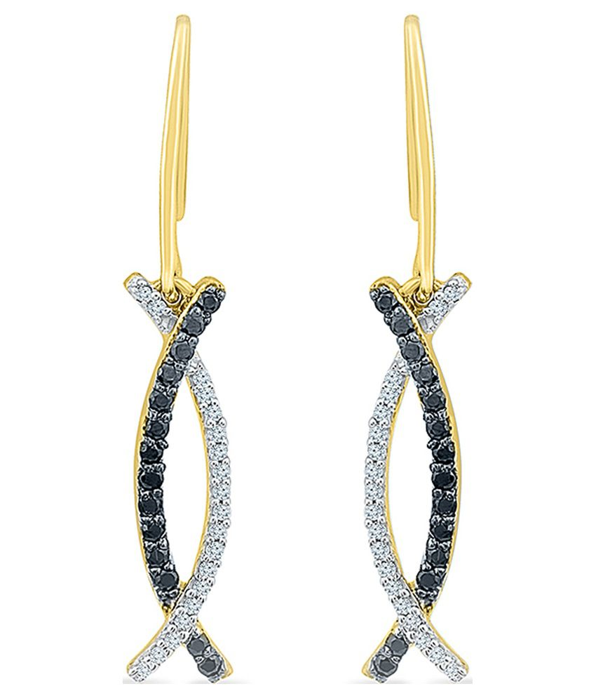 Radiant Bay Circle of Life 18kt Yellow Gold Danglers Earrings