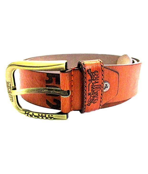 AAM Shopping Brown Leather Casual Belt