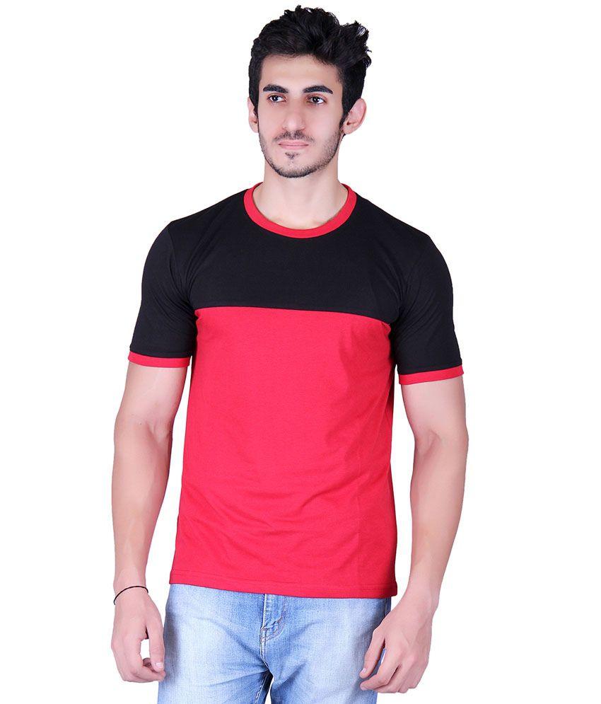 Vivid Bharti Red Cotton Blend T-Shirt