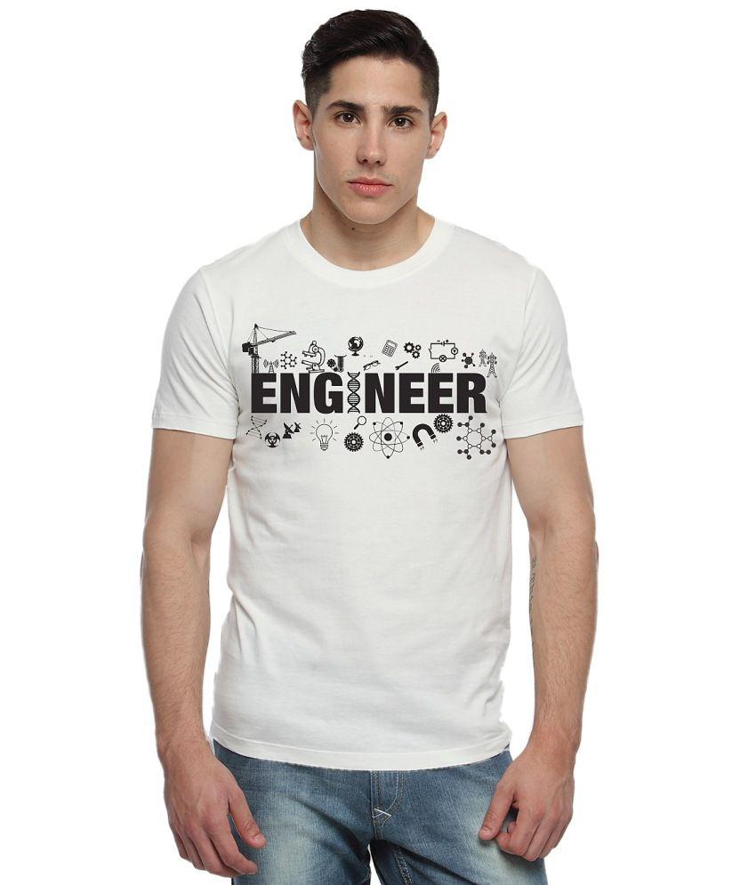 Adro White Cotton Printed T-shirt