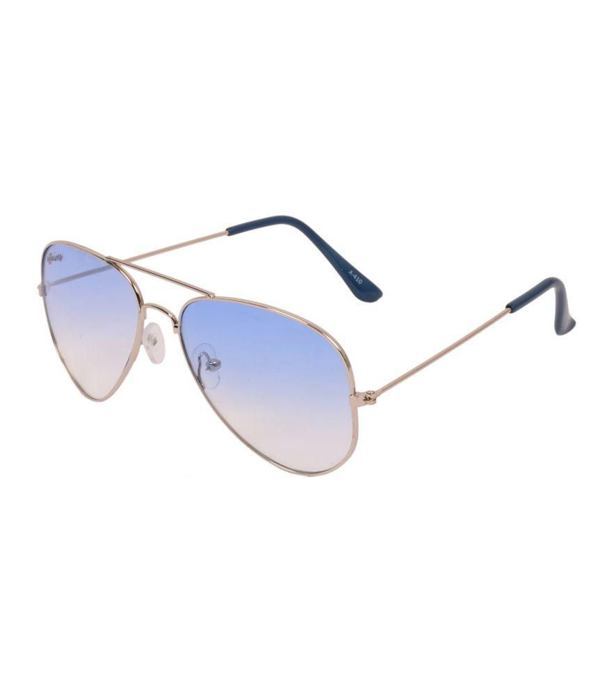 Affaires Silver Metal Aviator Sunglasses