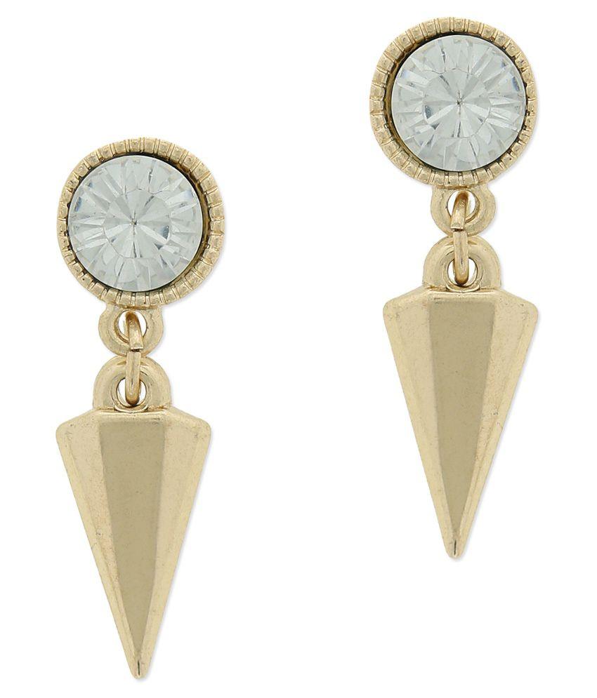 Fabula Style Diva Gold Party Wear Hangings Earrings