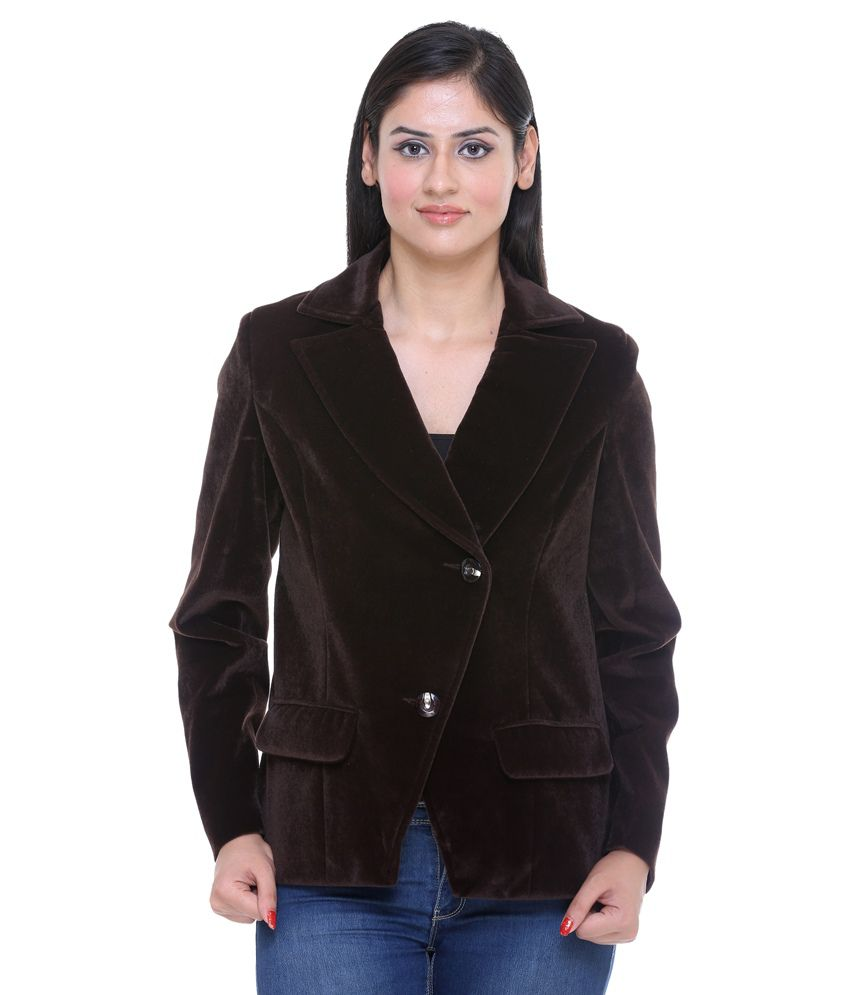 Trufit Brown Velvet Coats