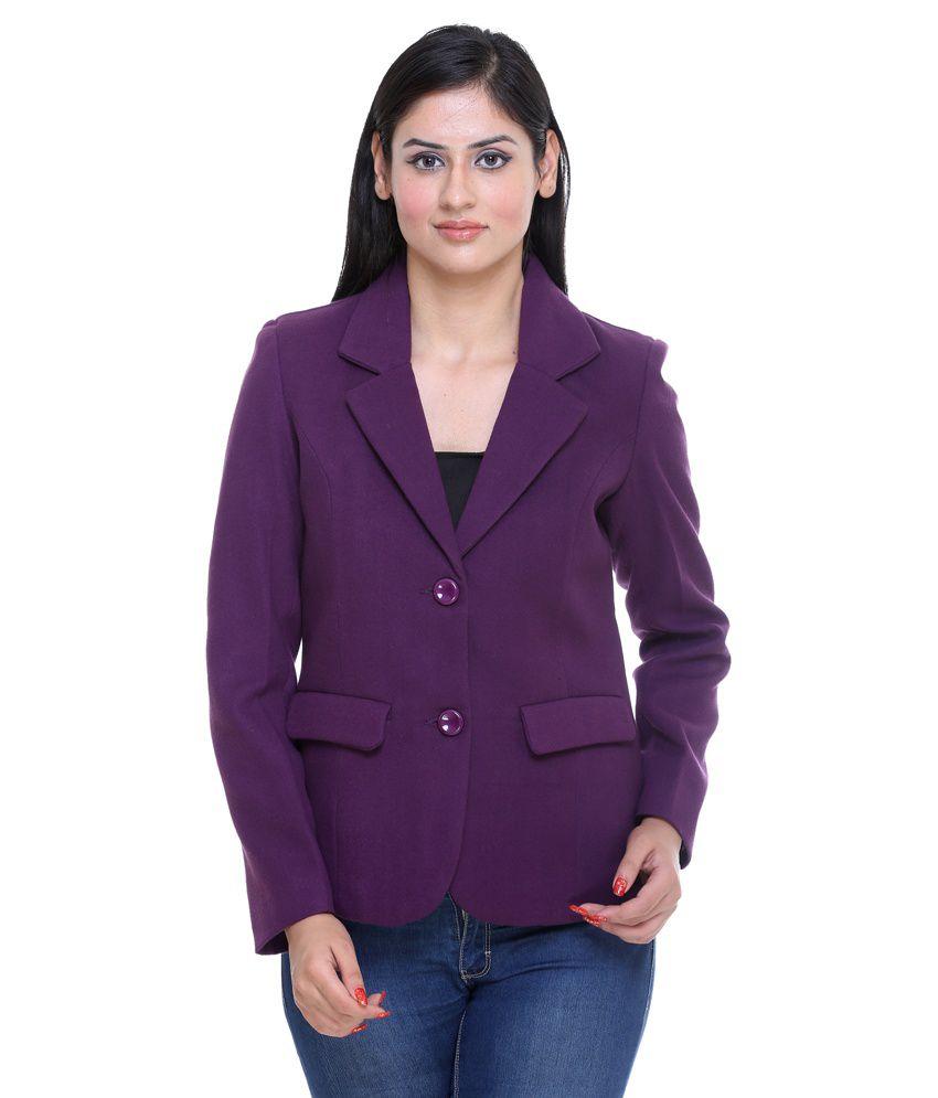 Trufit Purple Tweed Coats
