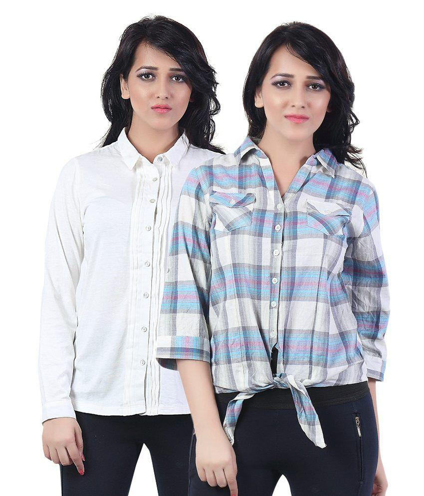 Bfly Multi Cotton Shirts