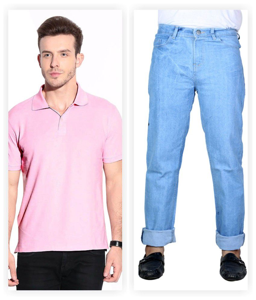 Haltung  Jeans & Polo T-shirt Combo