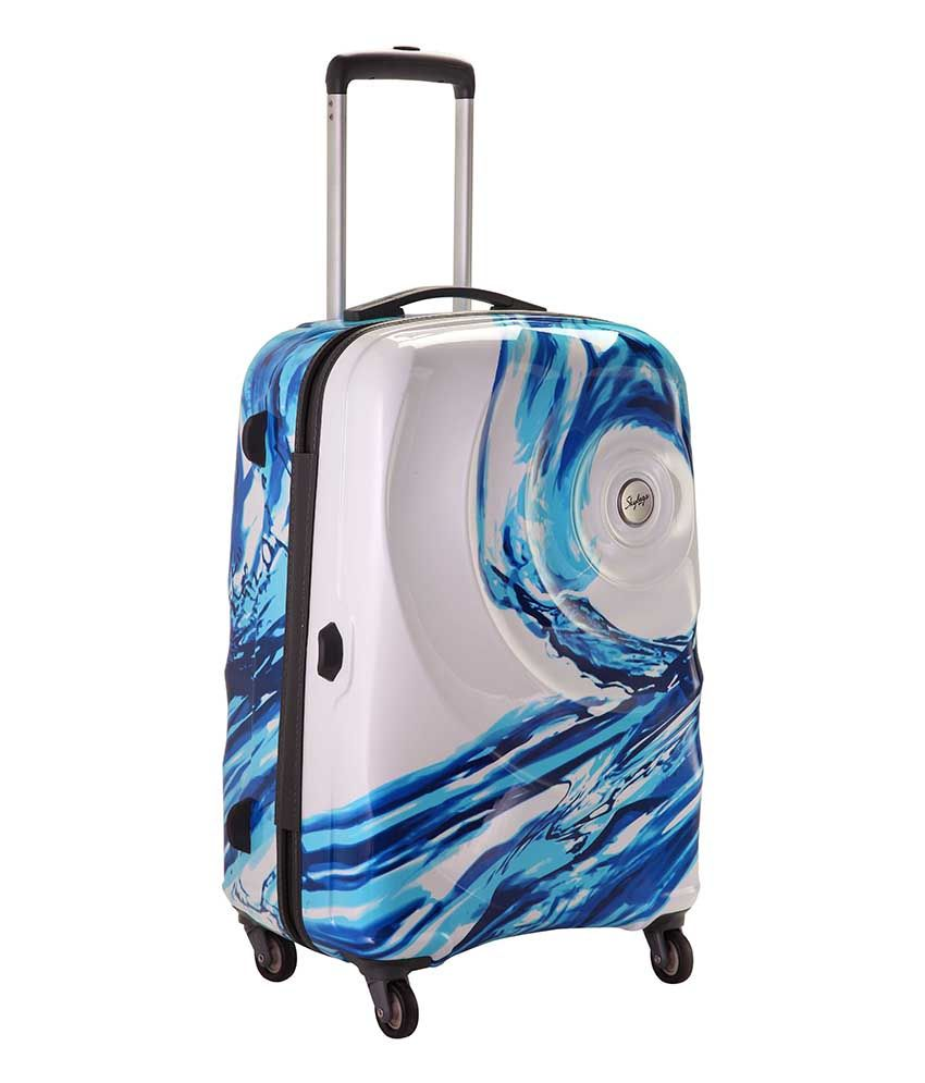 Skybags Small (Below 60 CM) 4 Wheel Hard White Riviera Luggage ...