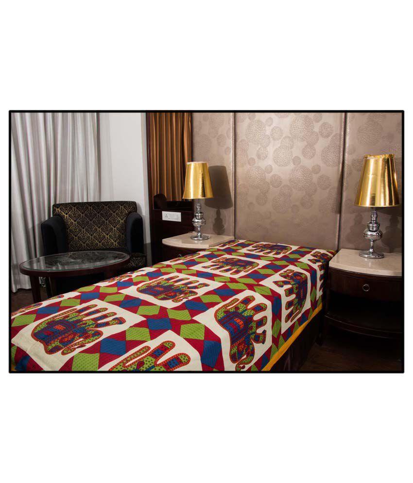 UniqChoice 100% Cotton Jaipuri Traditonal Single Bed Sheet