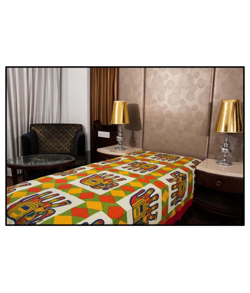 UniqChoice 100% Cotton Jaipuri Traditonal Single Bed Sheet